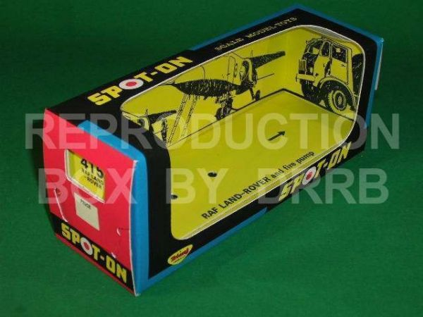 Spot-On #415 R.A.F. Land Rover (Fire) - Reproduction Box